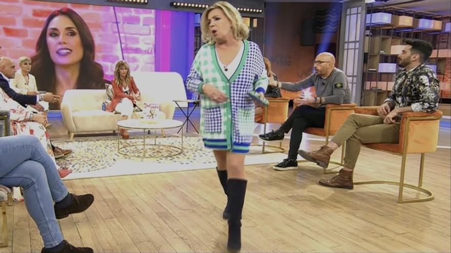 Carmen Borrego abandona el plató de 'Viva la vida' indignada con Matamoros y Diego Arrabal
