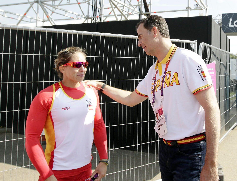 Teresa Portela, junto a Felipe de Borbón, durante los Juegos de Londres 2012