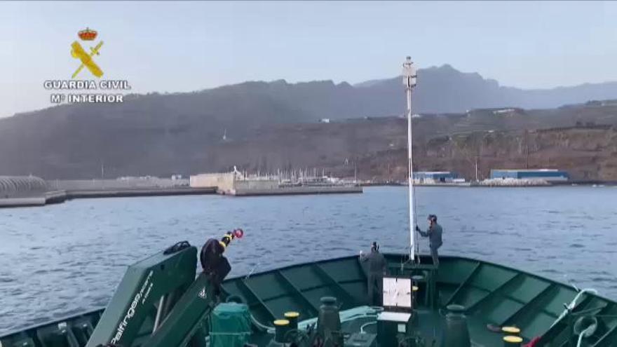 Incautan una tonelada de droga en un velero que seguía una nueva ruta en La Palma