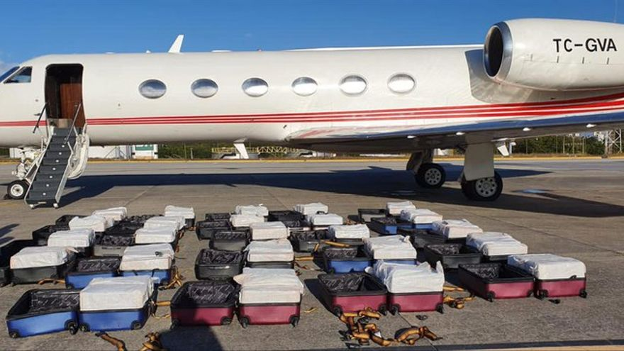 El avión interceptado en Brasil con 1.300 kilos de cocaína cruzó el Atlántico desde Málaga