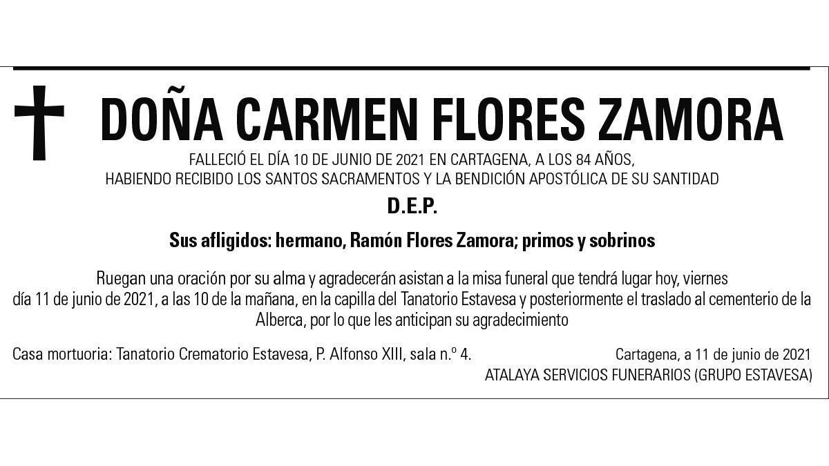 Dª Carmen Flores Zamora