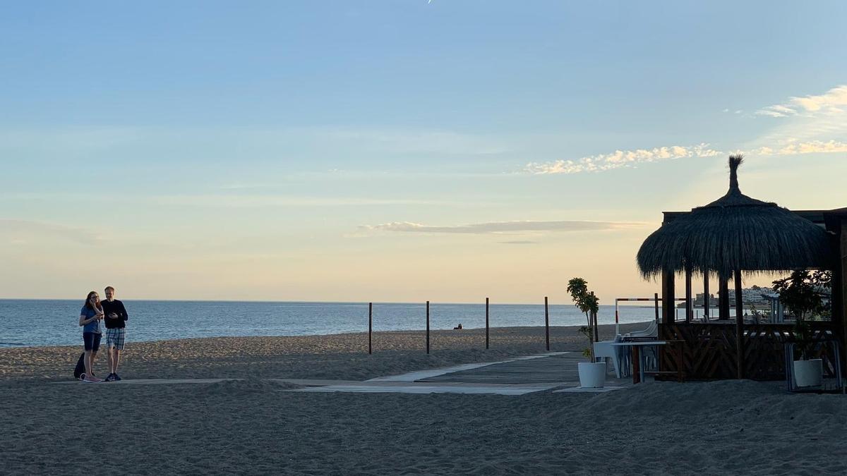Una playa de Mijas.
