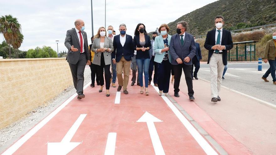 Inaugurado el nuevo camino ciclopeatonal de la travesía de Cártama para proporcionar un paso seguro a vecinos