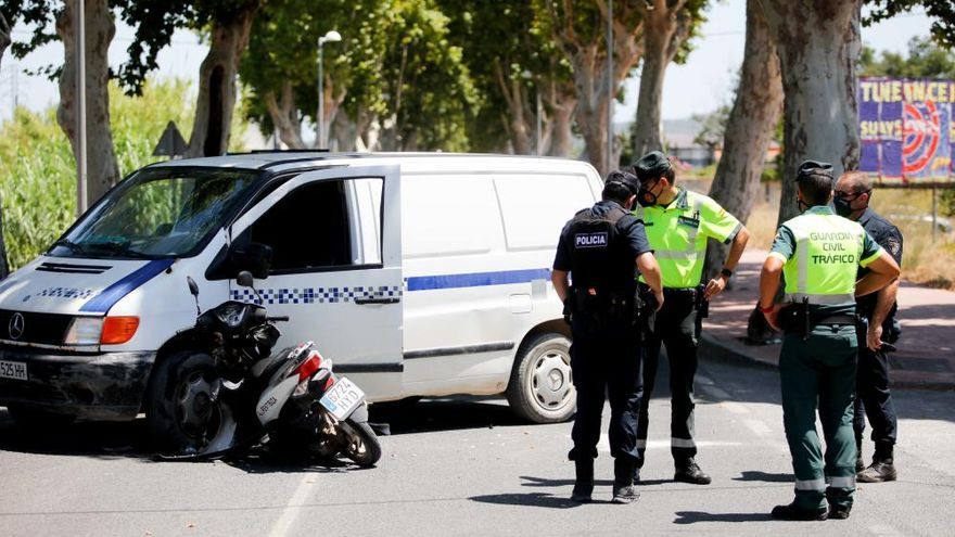Un herido en un accidente de tráfico en Ibiza da positivo en coronavirus