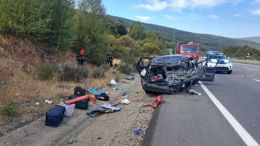 Dos accidentes en la A-52 en Zamora se saldan con seis heridos