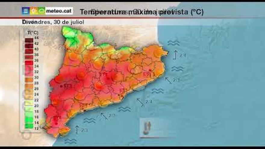 Un divendres de sol i calor, previ a un dissabte de xàfecs