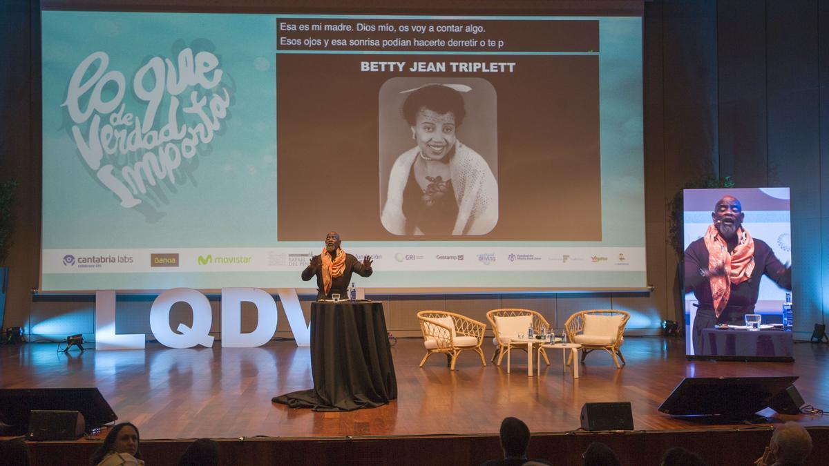 El empresario y filántropo estadounidense Christopher Gardner, el 6 de marzo de 2020 en A Coruña con el congreso 'Lo que de verdad importa'.