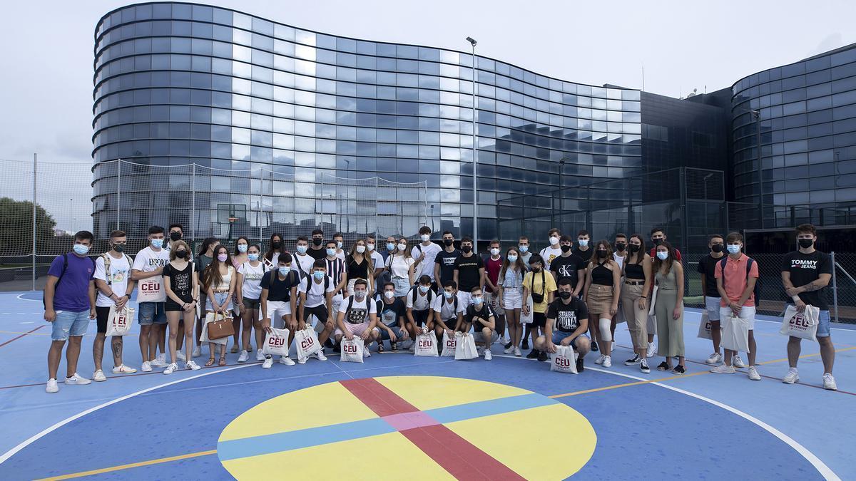 Estudiantes del recién implantado Grado en Ciencias de la Actividad Física y del Deporte.