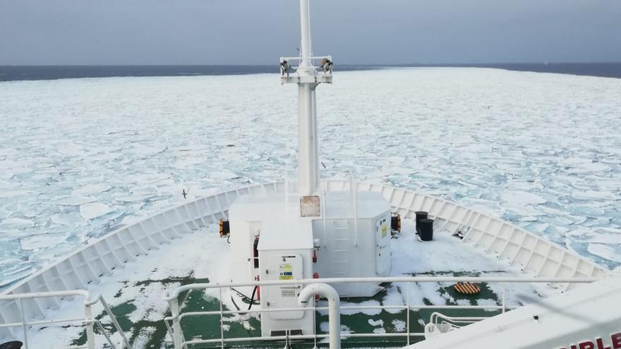 Vídeo realizado polo capitán José Luis Otero cerca de las islas Svalvard, en Noruega, a bordo del Lodairo