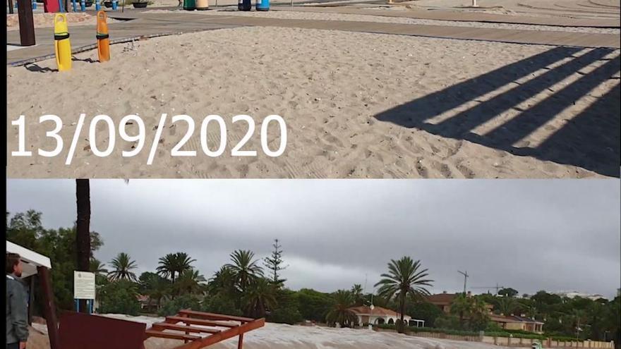 La playa de La Glea en Campoamor, un año después