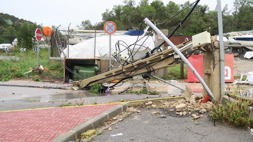El Govern aportará 133.000 euros para afrontar los daños de la DANA de Ibiza