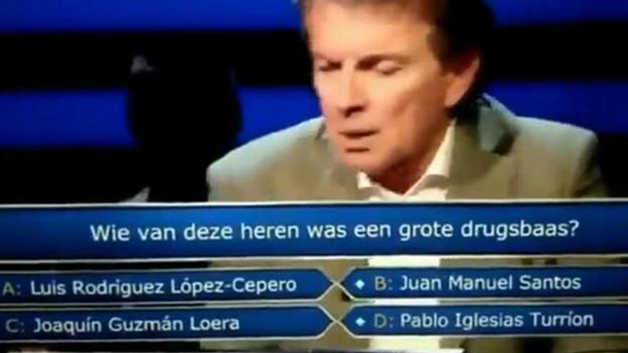 """Meten a Pablo Iglesias en las opciones a """"narcotraficante"""" en un concurso holandés"""