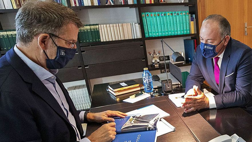 Feijóo y Rioboo acuerdan impulsar un centro de economía circular en la Cros