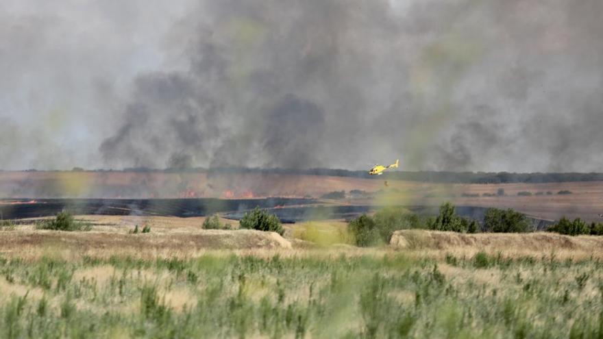 Incendio en San Martín de Valderaduey.