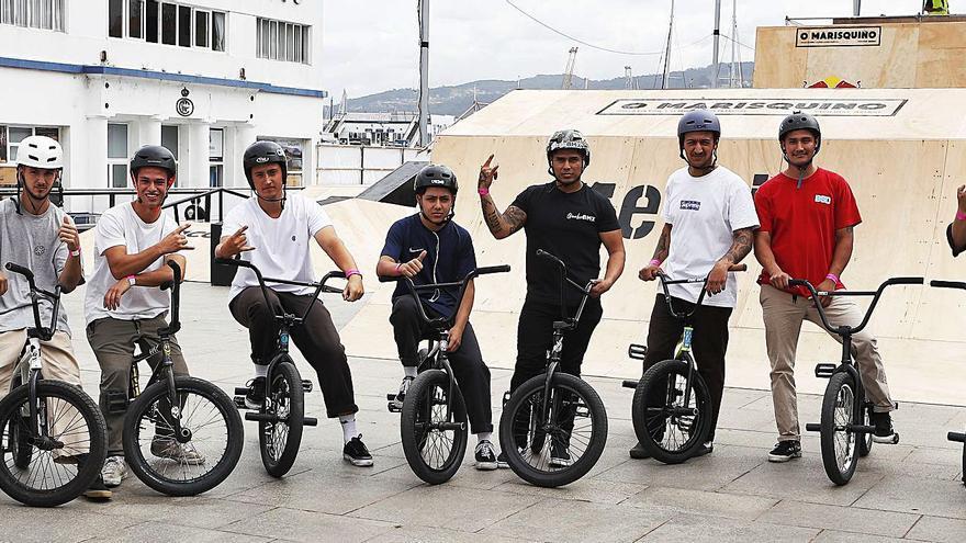 Los ases del BMX revolucionan As Avenidas