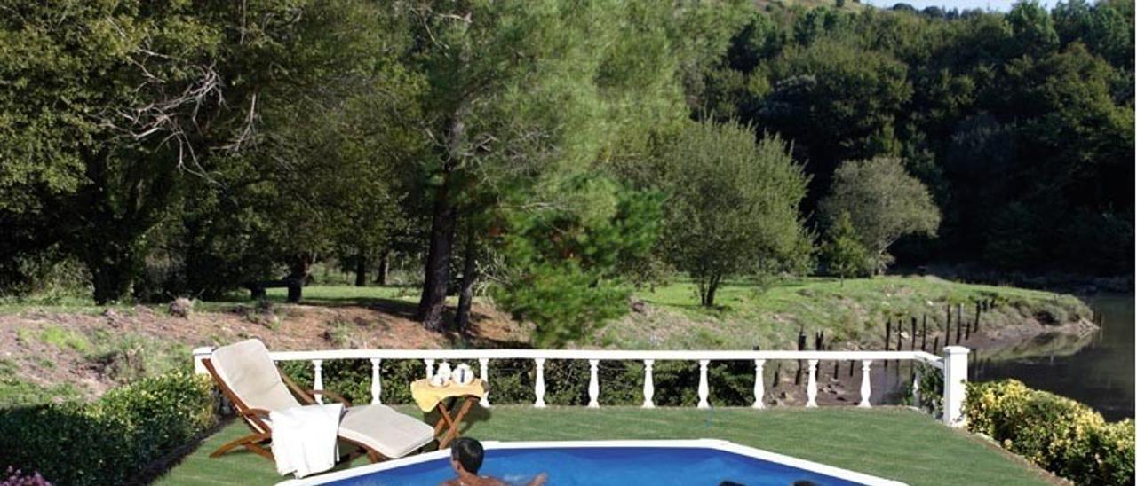 Imagen de una piscina desmontable.