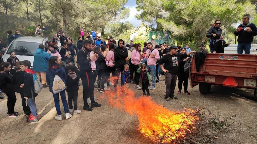 Sa Troncada inicia la fiesta de Sant Antoni en Son Servera