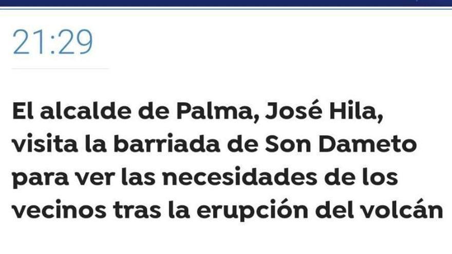 La confusión entre Palma y La Palma coloca el volcán en Mallorca