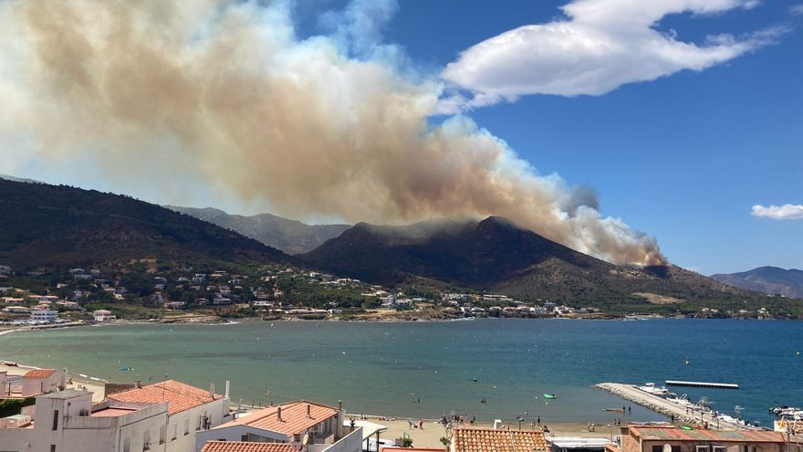L'incendi de Llançà afecta 118,5 hectàrees, pràcticament totes al Parc Natural del Cap de Creus