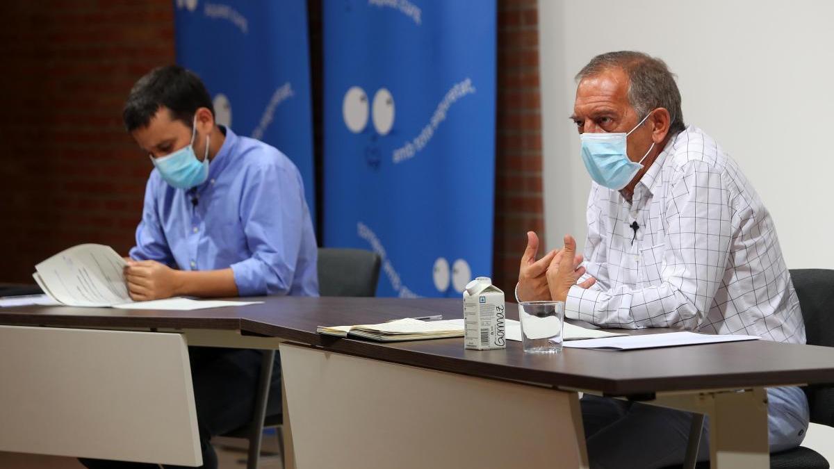 Marzà y Soler, esta mañana, en la conselleria.