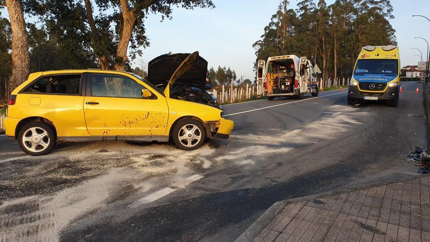 Cinco heridos leves en un accidente de tráfico en Ribadumia