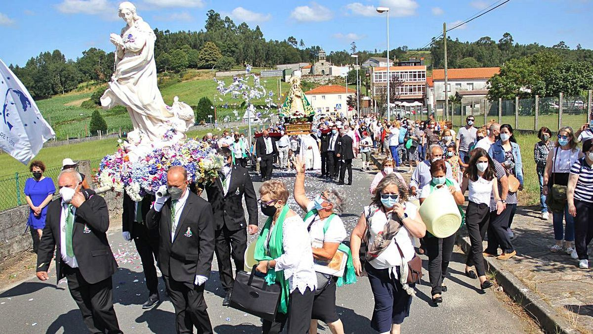 Encuentro de la Virgen de O Corpiño y la Inmaculada    BERNABÉ/ANA AGRA