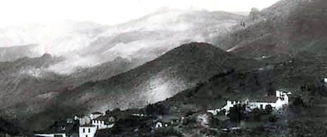 Una imagen del pueblo de Tejeda en torno a 1927 del siglo pasado.