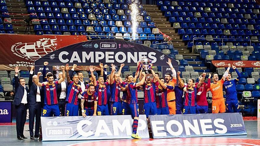 El Barça derrota el Jaén i es proclama campió de la Copa del Rei de futbol sala