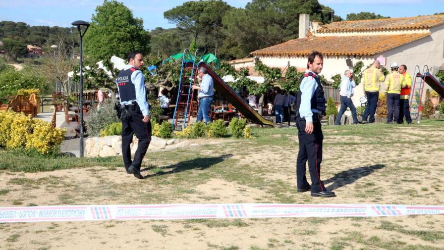 El hinchable de Girona podría haber salido volando por una cremallera mal cerrada