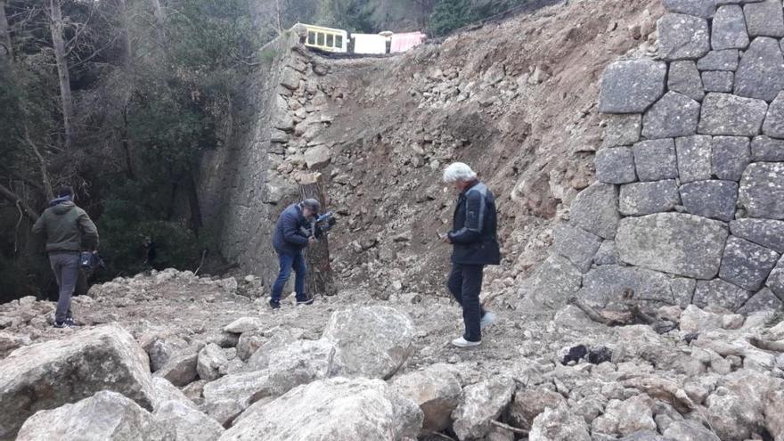 Lluc-Straße wird mit Trockensteinmauern repariert