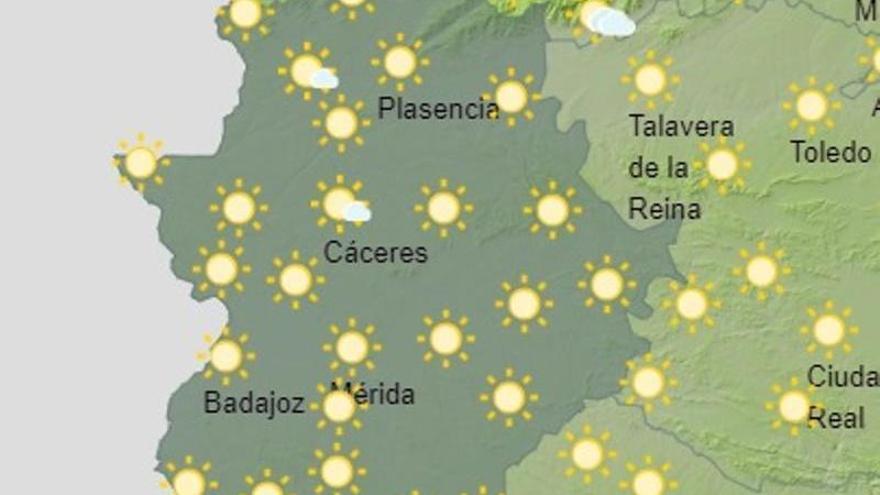 La previsión meteorológica pronostica intervalos nubosos en el norte de Extremadura