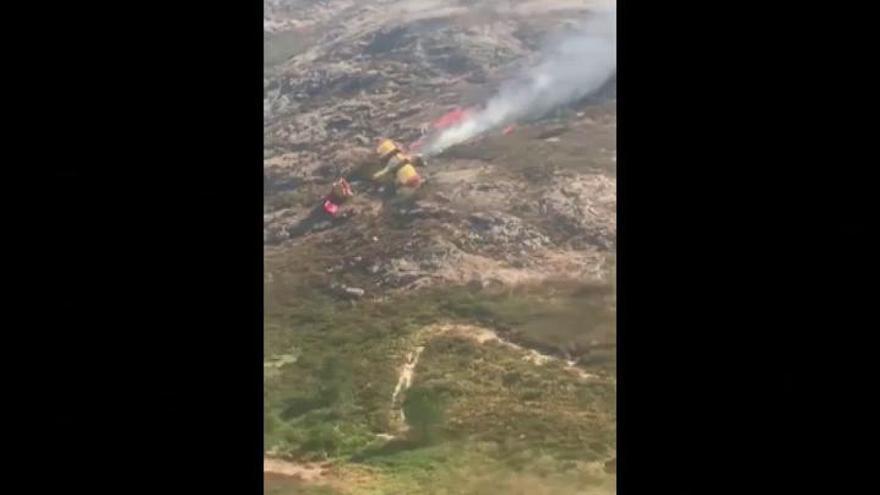 Un muerto tras estrellarse un hidroavión que apagaba un incendio