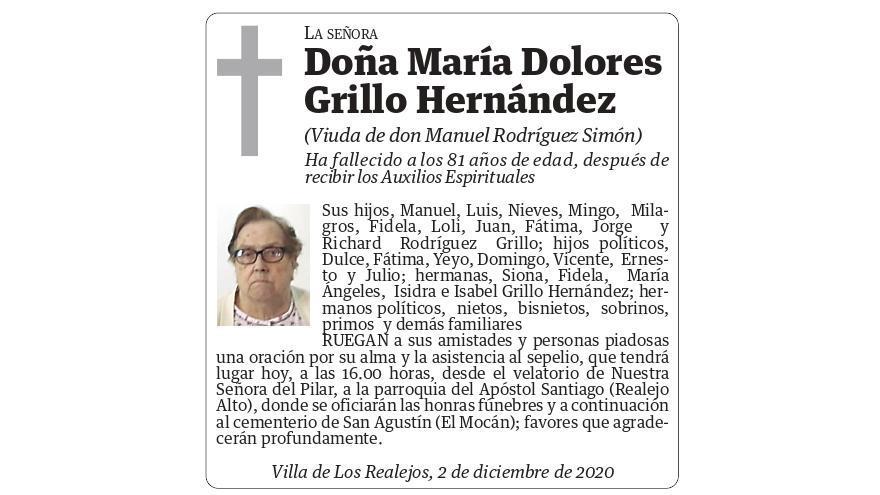 María Dolores Grillo Hernández