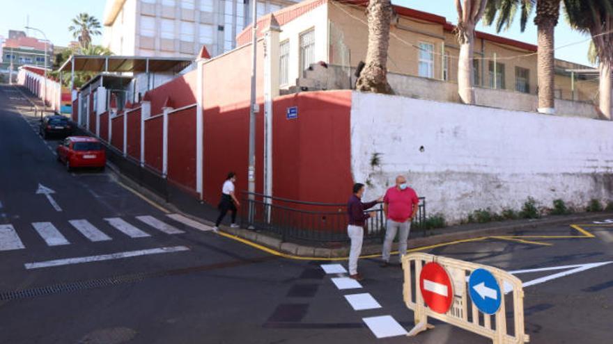 Los Realejos modifica la circulación en el entorno del colegio de La Pared