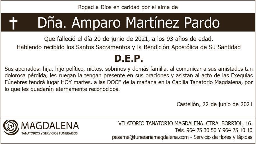 Dª Amparo Martínez Pardo