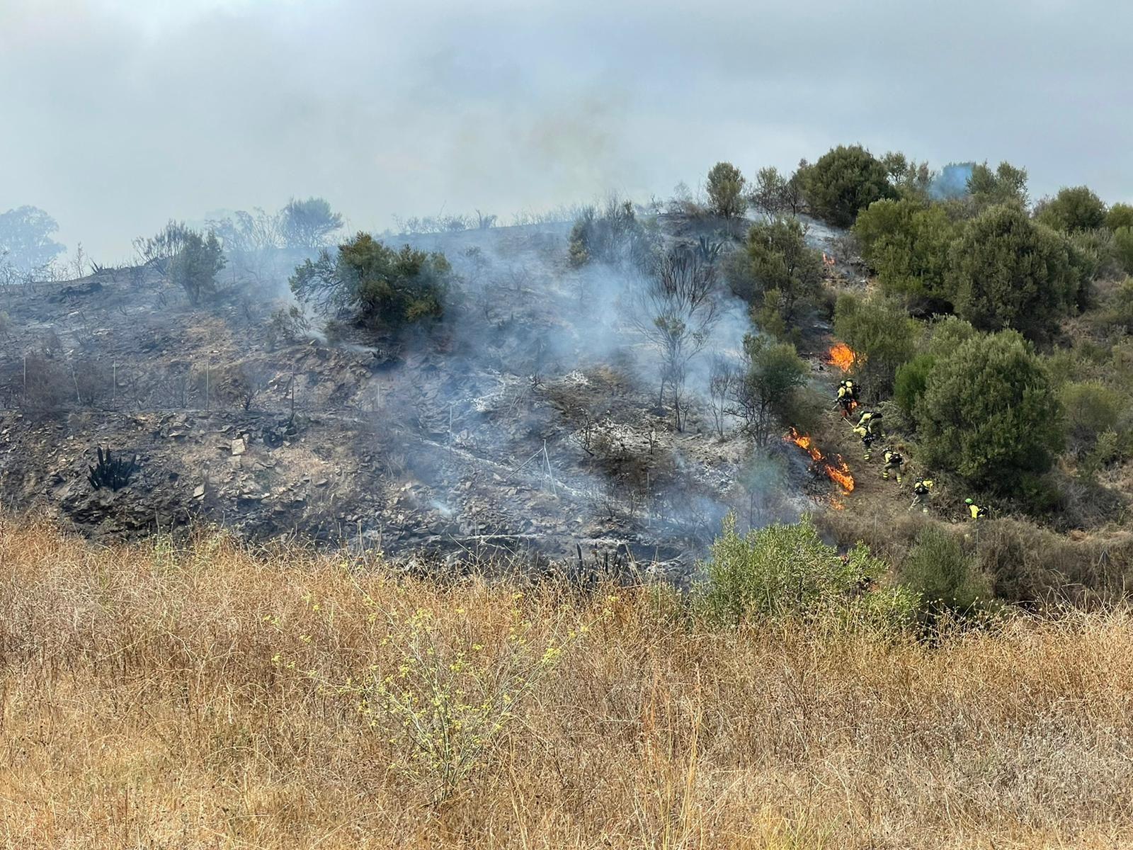 Incendio del paraje Cerro del Mesto de Mijas