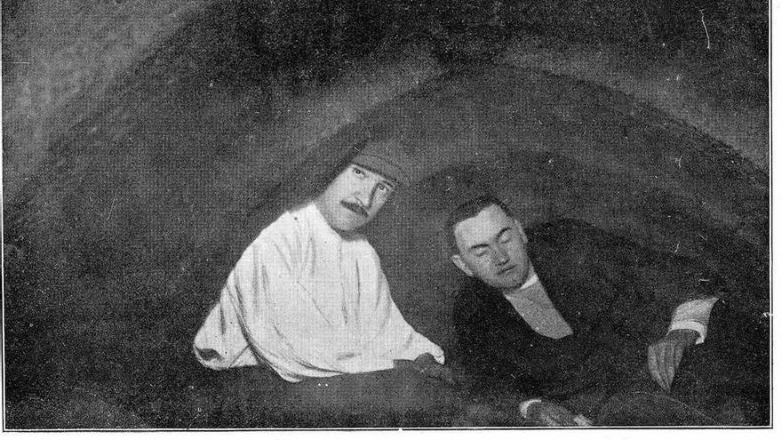 Expedición arqueolóxica no Hío en 1911