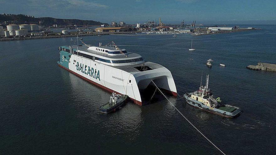 Baleària conecta Dénia y Palma con el primer fast ferry con motores a gas natural