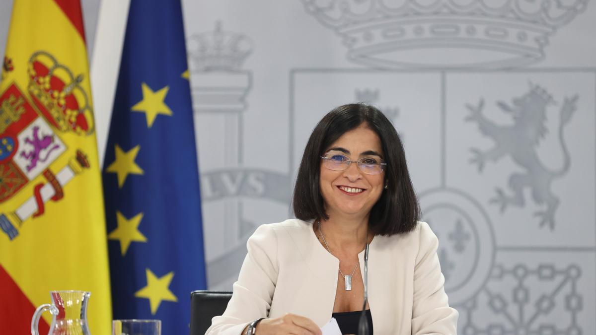 La ministra de Sanidad, Carolina Darías.