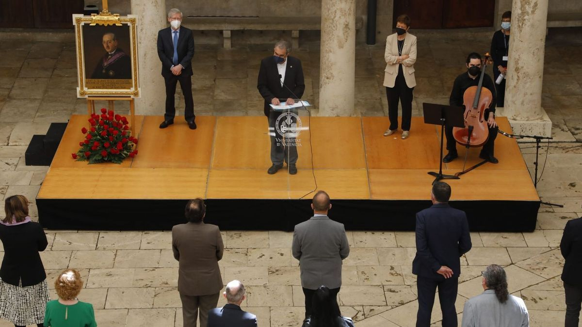 Homenaje al rector Peset Alexandre en la UV.