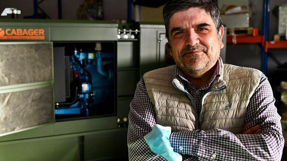 Jorge Barcia, en las instalaciones de Cabager en A Coruña.    // CARLOS PARDELLAS