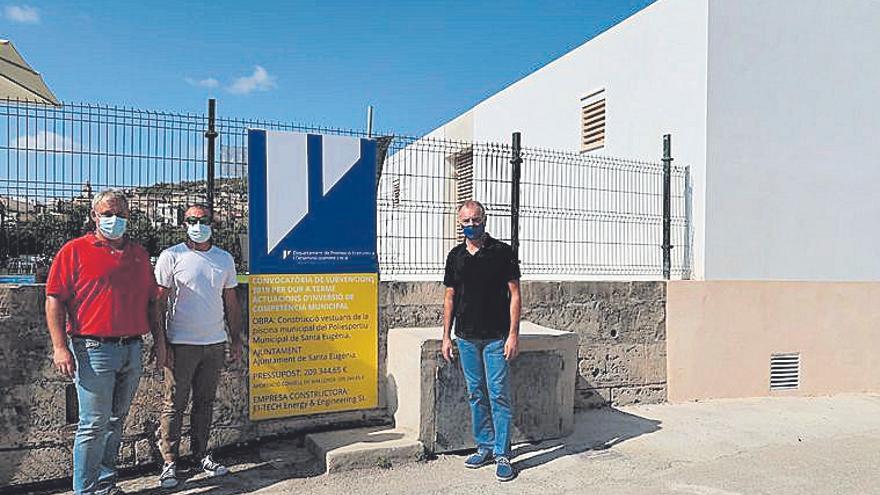 El polideportivo municipal de Santa Eugènia estrena vestuarios e iluminación