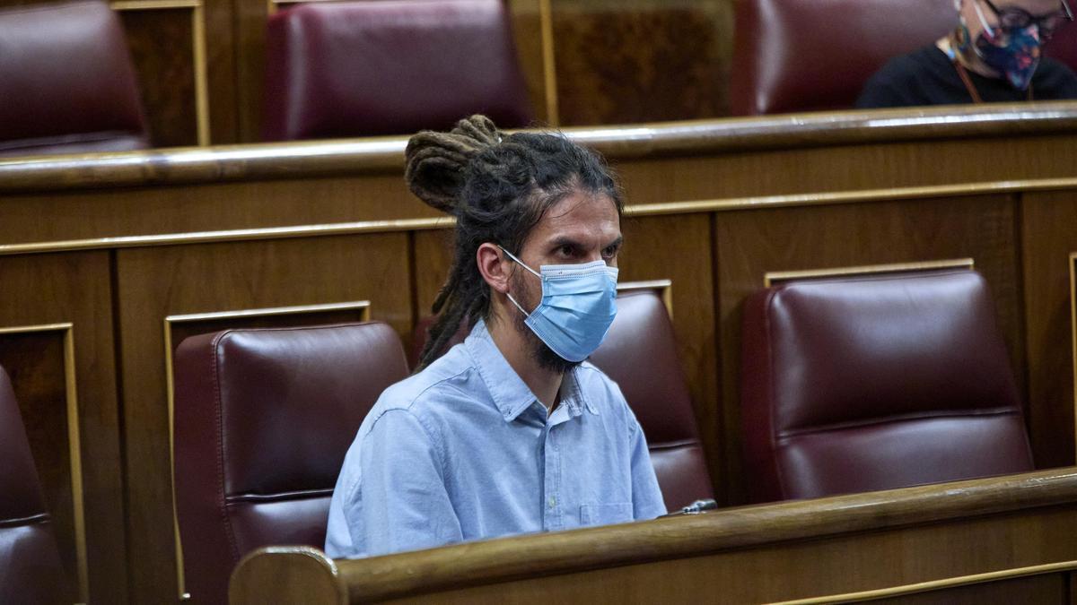 Alberto Rodríguez en una sesión del Congreso.
