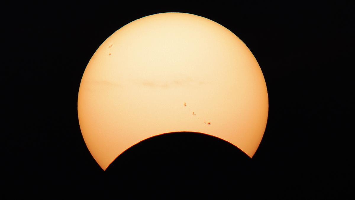 Eclipse solar parcial.