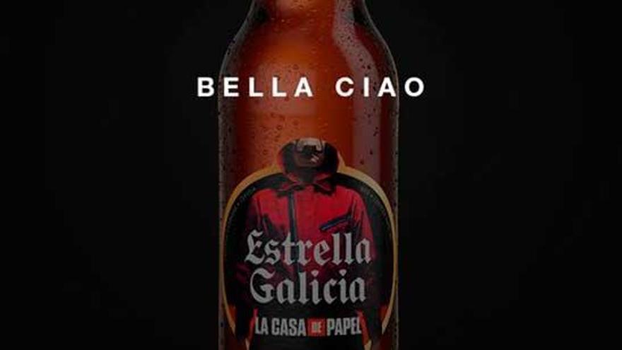 Estrella Galicia lanza una etiqueta de 'La casa de papel'