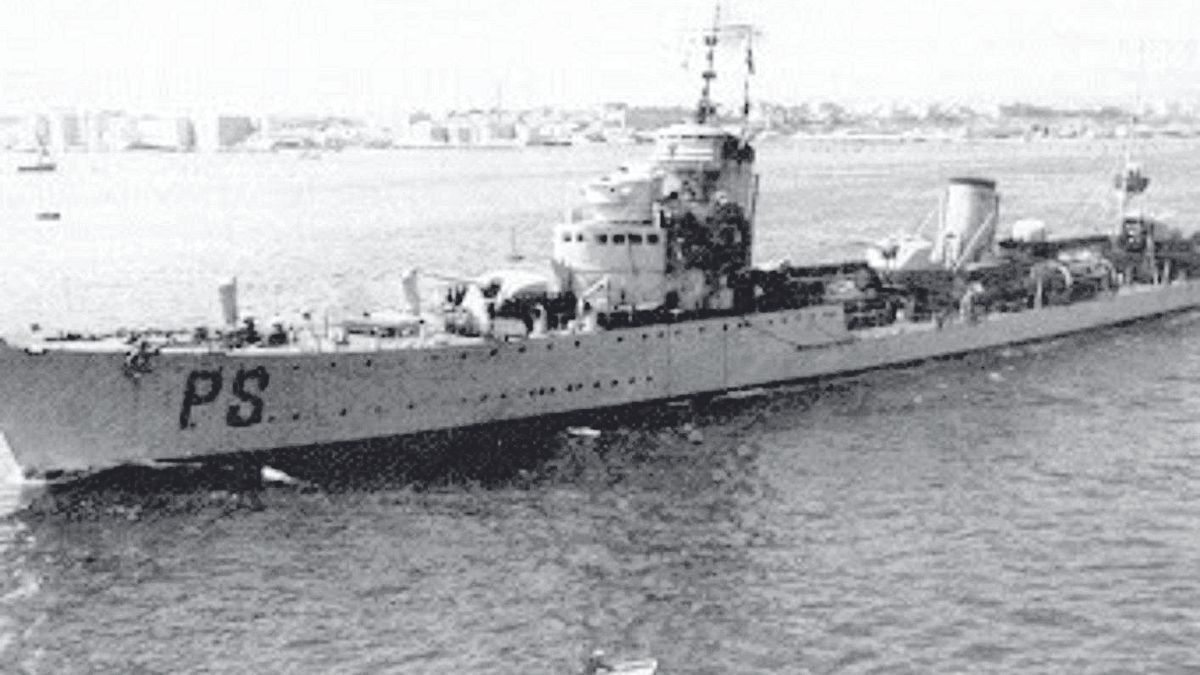 El destructor italiano Emanuele Pessagno