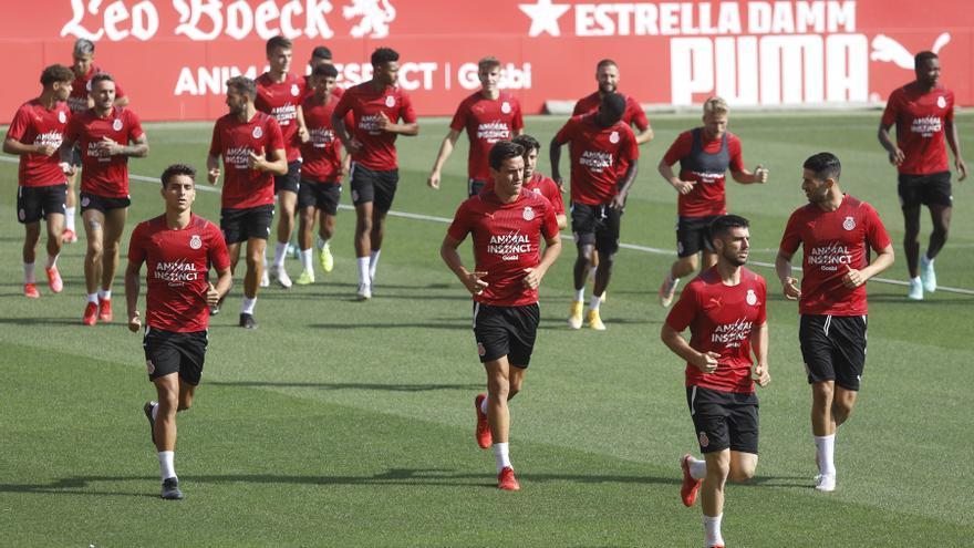 El Girona prepara el partit contra Las Palmas