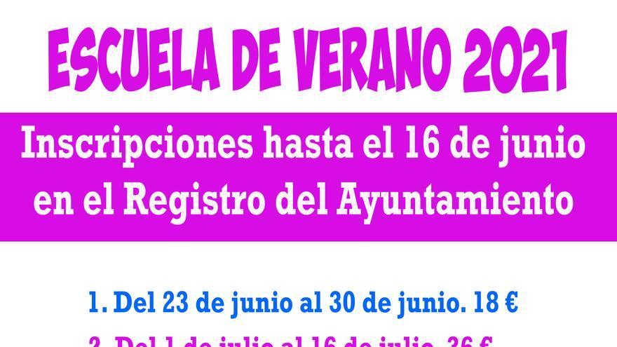 Abierto el plazo de inscripción para la Escuela de Verano de Moratalla y pedanías