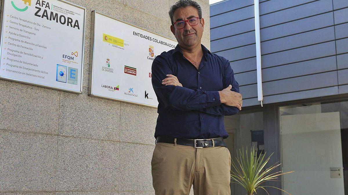 Antonio García en el centro de la AFA en Zamora.