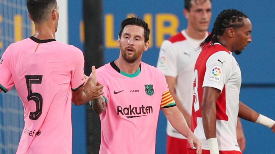 Messi se estrena en la pretemporada con un doblete